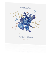 Save the Date kaart aquarel bloemen