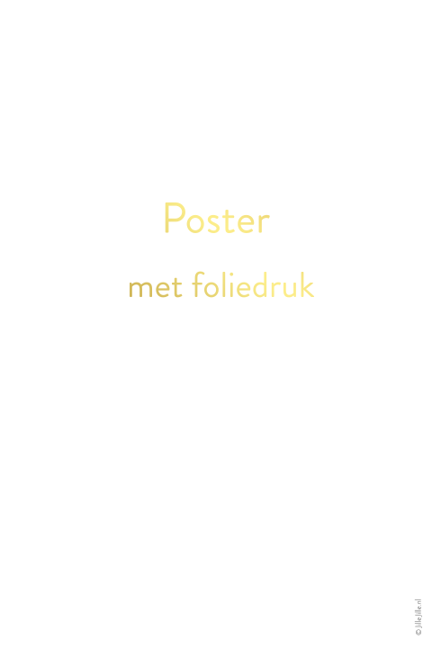 poster staand folie blanco