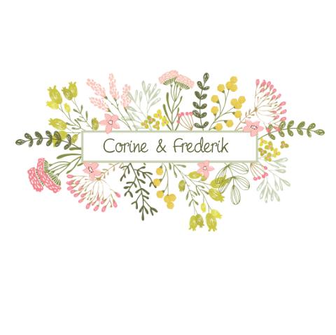 stijlvol trouwkaartje bloemen - mooi - bloem - weddingcard
